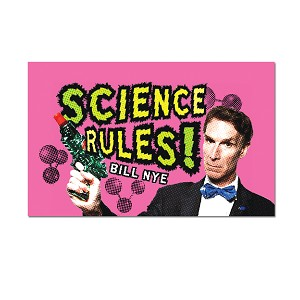 "Science Rules! Refrigerator Magnet - [3"" x 2""]"