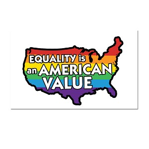 "Equality is an American Value Refrigerator Magnet - [3"" x 2""]"