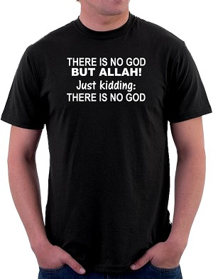 AronRa There is No God Men's Cotton Crew Neck T-Shirt