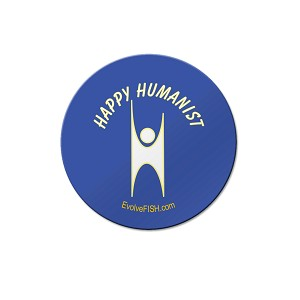 "Happy Humanist 1.25"" Pinback Button"