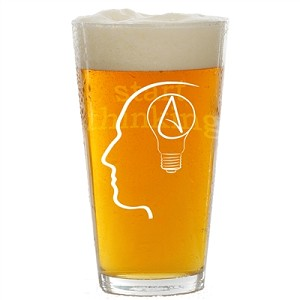 The Thinking Atheist Pint Glass - [16 oz. ]