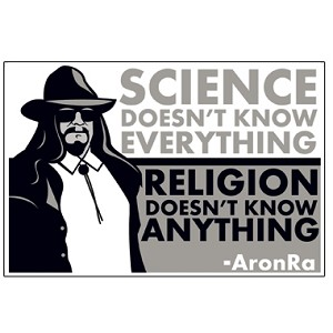 "Science Doesn't Know Everything Religion Doesn't Know Anything 5.25"" x 3.5"" Bumper Sticker"