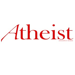 Scarlet A for Atheist White Bumper Sticker - [11' x 3']