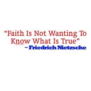 "Faith is Not Wanting to Know What is True Bumper Sticker 11"" x 3"""
