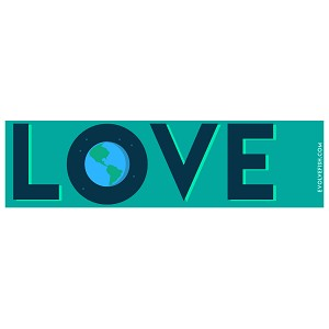"Love Earth Bumper Sticker 11"" x 3"""