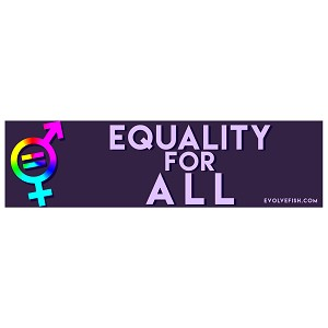 "Equality for All Bumper Sticker 11"" x 3"""