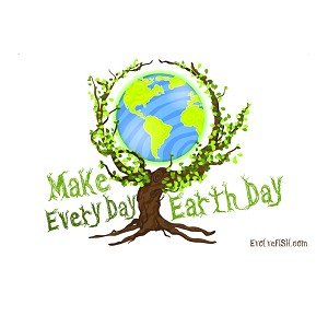 "Make Every Day Earth Day Bumper Sticker 5"" x 3.5"""