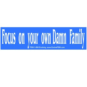 "Focus on Your Own Damn Family Bumper Sticker 11"" x 3"""