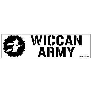 "Wiccan Army Bumper Sticker 11""x 3"""
