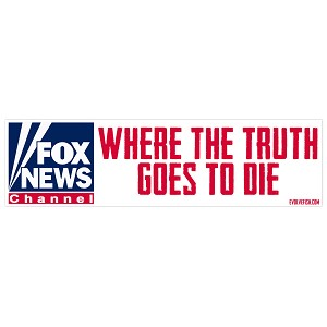 "Where the Truth Goes to Die Bumper Sticker 11"" x 3"""