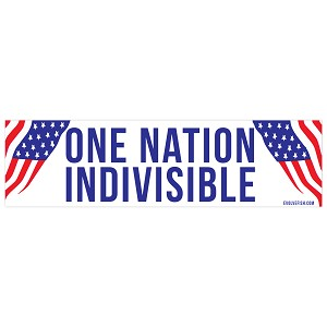 "One Nation Indivisible Bumper Sticker 11"" x 3"""