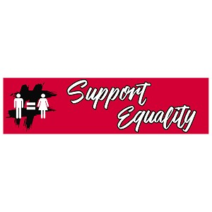 "Support Equality Bumper Sticker 11"" x 3"""