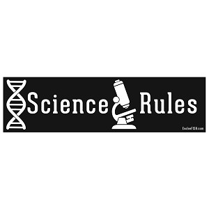 "Science Rules Bumper Sticker 11"" x 3"""