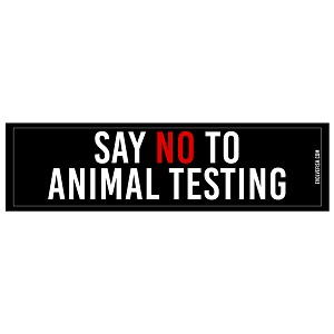 "Say No to Animal Testing Bumper Sticker 11"" x 3"""