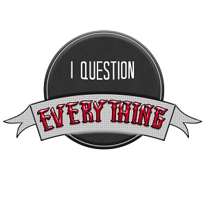 "I Question Everything Bumper Sticker 5"" x 3"""