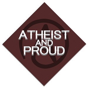 "Atheist and Proud Bumper Sticker 5"" x 5"""