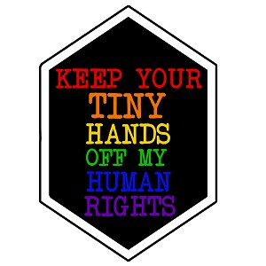 Keep Your Hands off My Rights Bumper Sticker - [3.5' x 5']