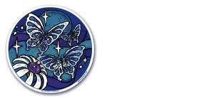 "Butterfly Dream Mandala Arts Translucent 4.5"" Window Sticker"