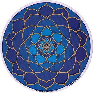 "Moonlight Lotus Mandala Arts Translucent 4.5"" Window Sticker"