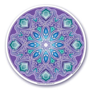 "Nirvana Mandala Arts Translucent 4.5"" Window Sticker"