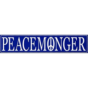 "Peacemonger Bumper Sticker  - [11.5"" x 3""]"
