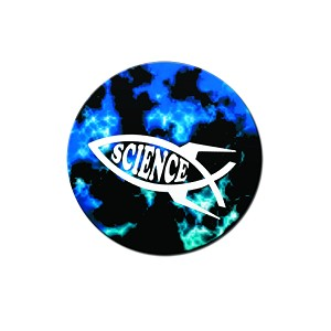 "Rocket Science Fish 1.25"" Button"
