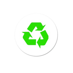 "Recycle Symbol 1.25"" Button"