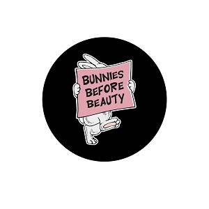 "Bunnies Before Beauty 1.25"" Button"