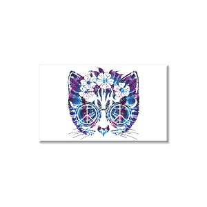 "Peace Cat 3"" x 2"" Refrigerator Magnet"