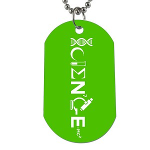 "Science Dog Tag - 2"" Tall"