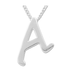"Scarlet A for Atheist Necklace - 1"" Tall"