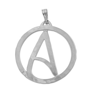 "Circle Atheist Necklace - 1"" Diameter"