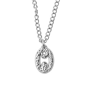 "Humanist Oval Necklace - .75"" Tall"