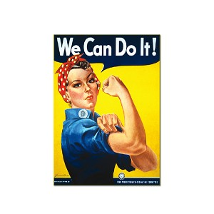 "We Can Do it 3"" x 2"" Refrigerator Magnet"
