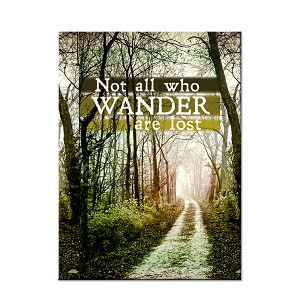 "Not All Who Wander are Lost 3"" x 2"" Refrigerator Magnet"