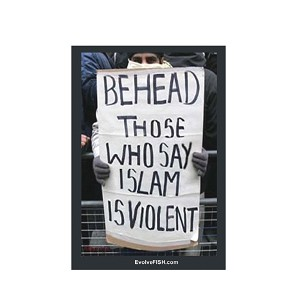 "Behead Those Who Say Islam is Violent 3"" x 2"" Magnet"