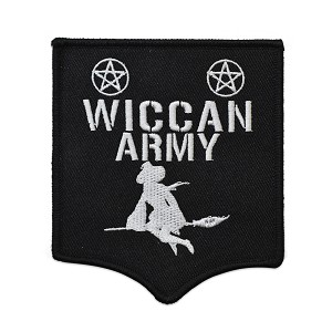 "Wiccan Army Embroidered Patch - 4"" Tall"