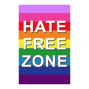 "Hate Free Zone 11"" x 17"" Poster"