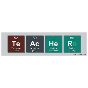 "Teacher Periodic Table Bumper Sticker 11"" x 3"""