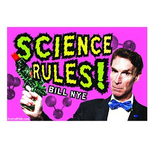 "Science Rules Bumper Sticker 5"" x 3.25"""