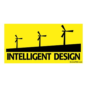 "Intelligent Design Bumper Sticker 5"" x 2.5"""