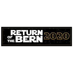 "Return of the Bern 2020 Bumper Sticker 11"" x 3"""