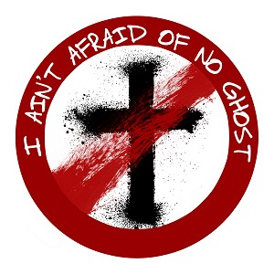 I Ain't Afraid of No Ghost Parody Bumper Sticker 5""