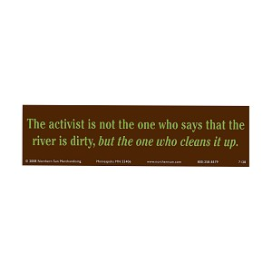 The Activist is Not the One Who Say River is Dirty but Cleans it Bumper Sticker